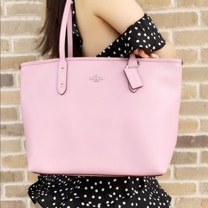 Michael kors city zip tote pink